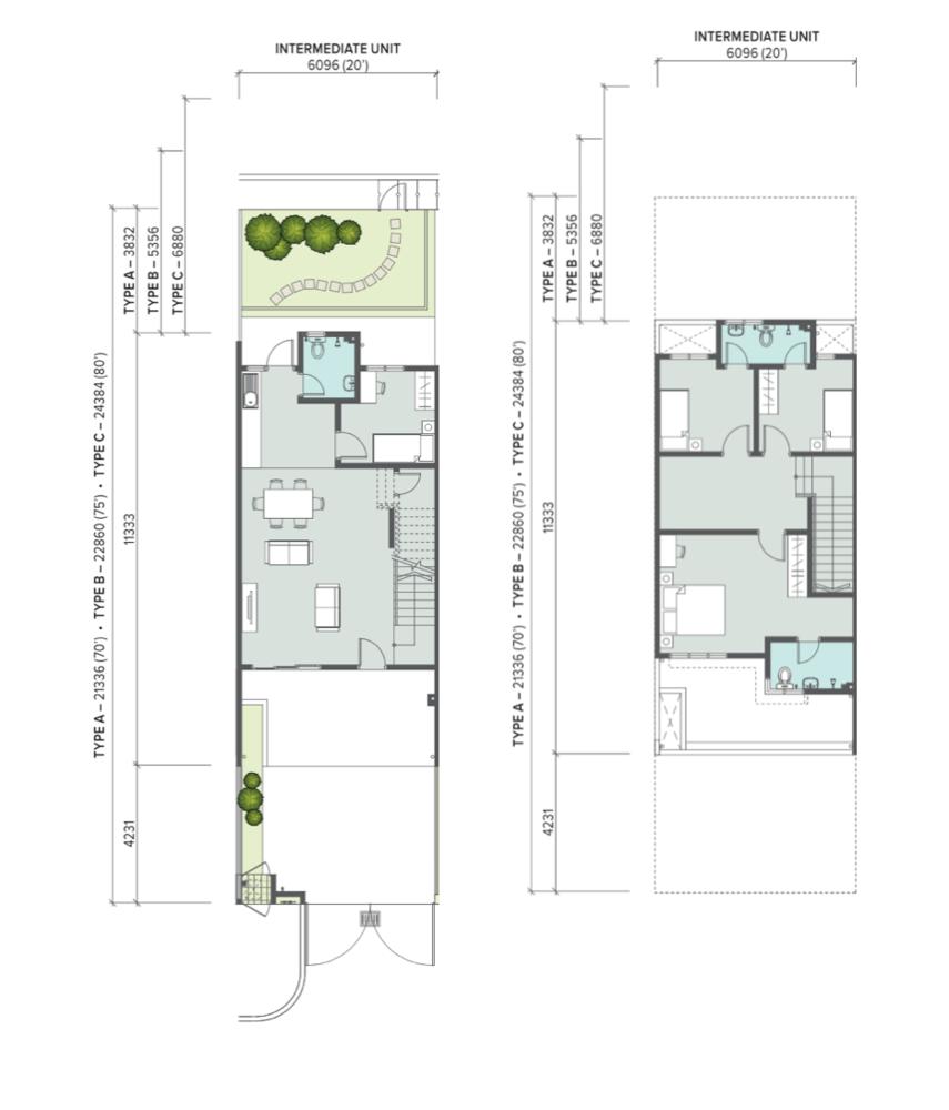 The Palm Intermediate Unit Floor Plan