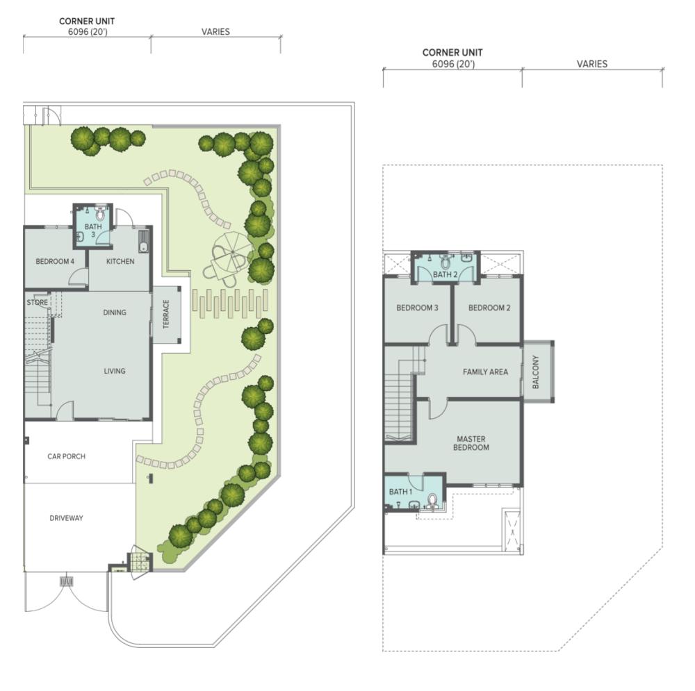 The Palm Corner Unit Floor Plan