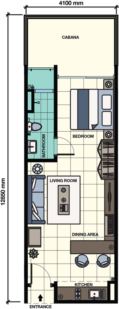 Core SoHo Suites Cabana Unit Floor Plan
