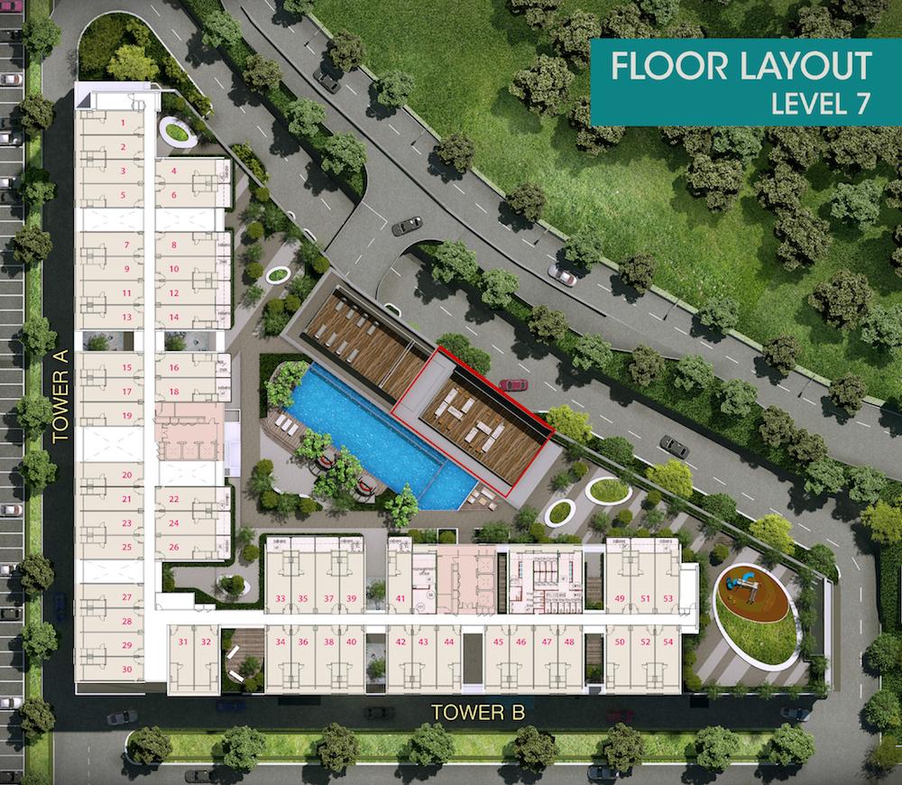 Site Plan of Core SoHo Suites