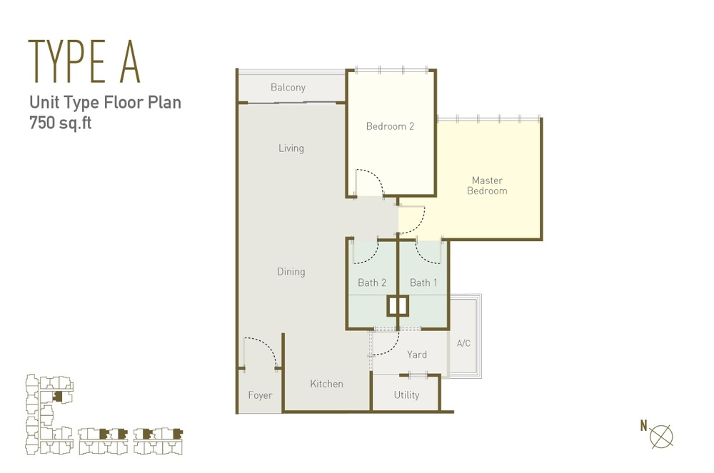 Lavile Type A Floor Plan