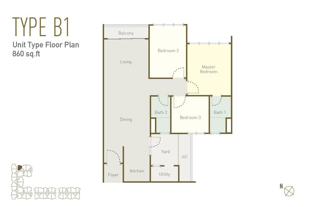 Lavile Type B1 Floor Plan