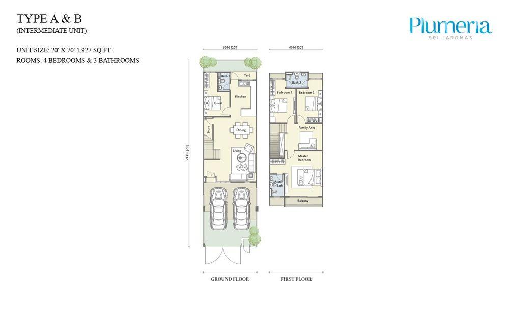 Plumeria @ Sri Jaromas Type A and B Floor Plan