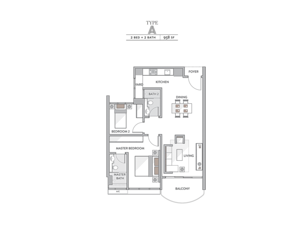 Senada Residences @ KLGCC Resort Type A Floor Plan