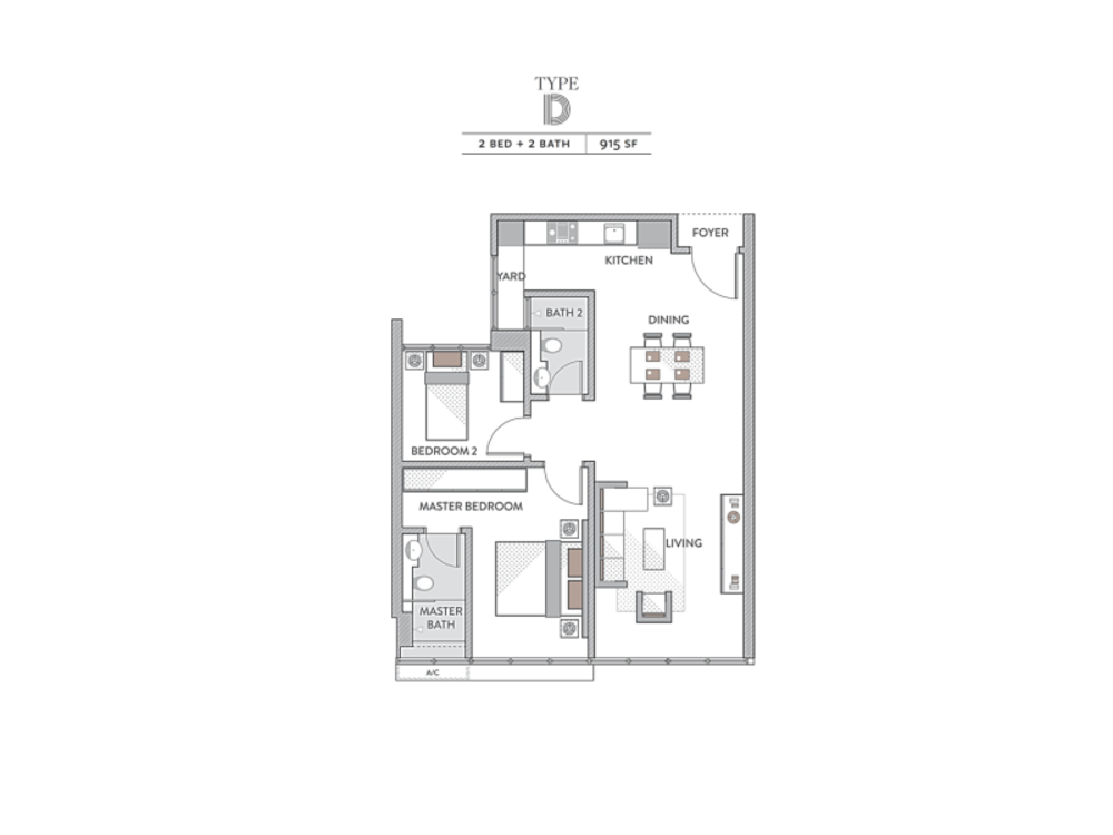 Senada Residences @ KLGCC Resort Type D Floor Plan