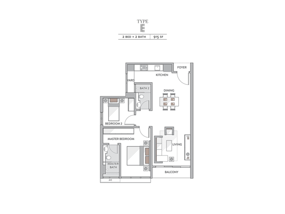 Senada Residences @ KLGCC Resort Type E Floor Plan
