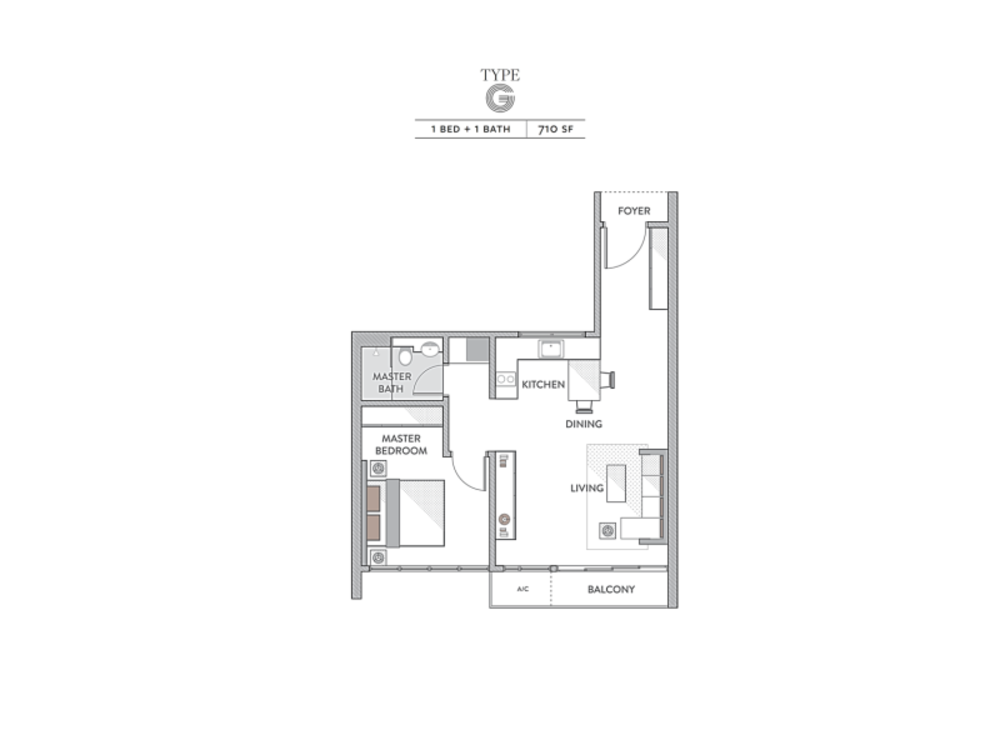 Senada Residences @ KLGCC Resort Type G Floor Plan