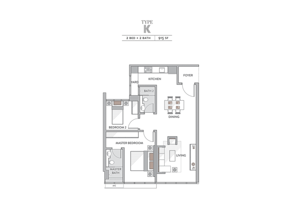 Senada Residences @ KLGCC Resort Type K Floor Plan