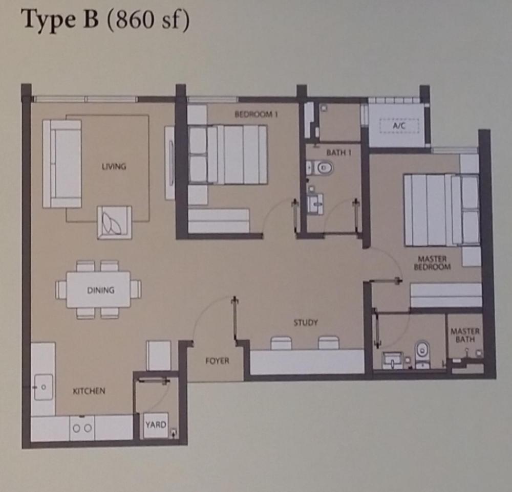 Emerald Hills Condominium Tower A Type B Floor Plan