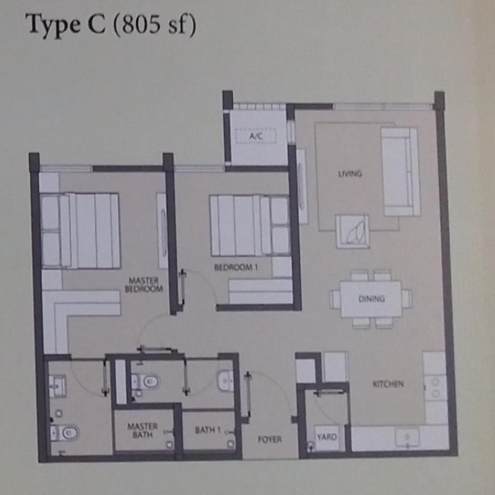 Emerald Hills Condominium Tower A Type C Floor Plan