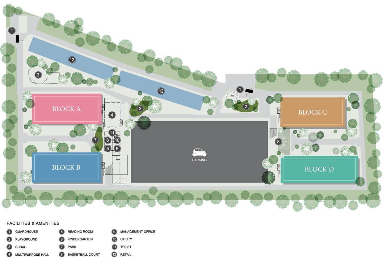 Site Plan of Casa Din'ari @ Cybersouth