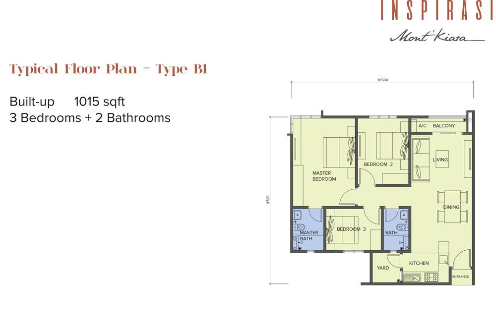 Inspirasi Mont'Kiara Type B1 Floor Plan
