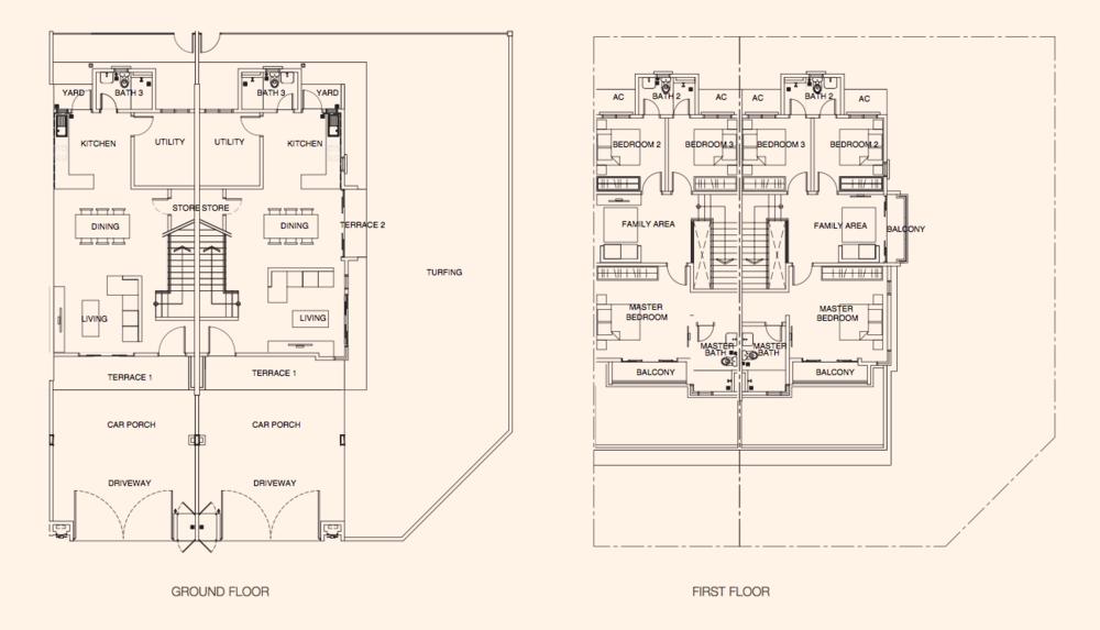 Azalea @ Puncak Bestari 2 Azalea Type B Floor Plan