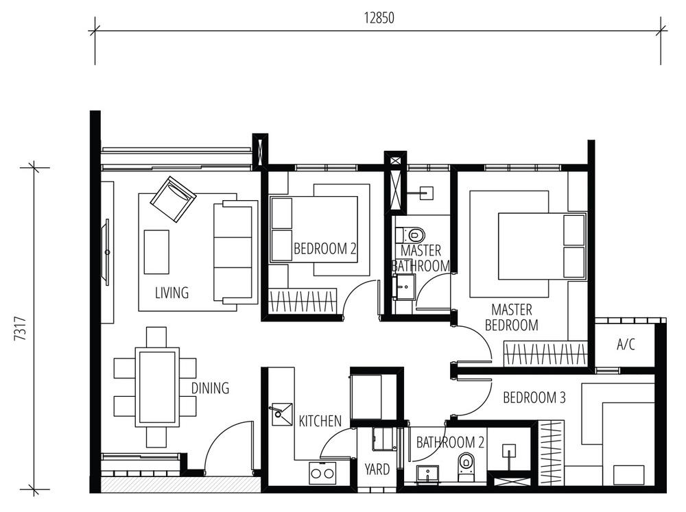 Tijani Raja Dewa Type A Floor Plan