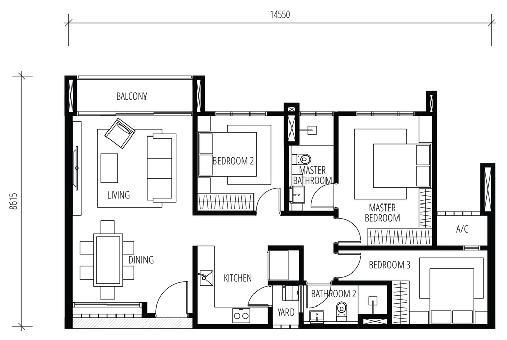 Tijani Raja Dewa Type B Floor Plan