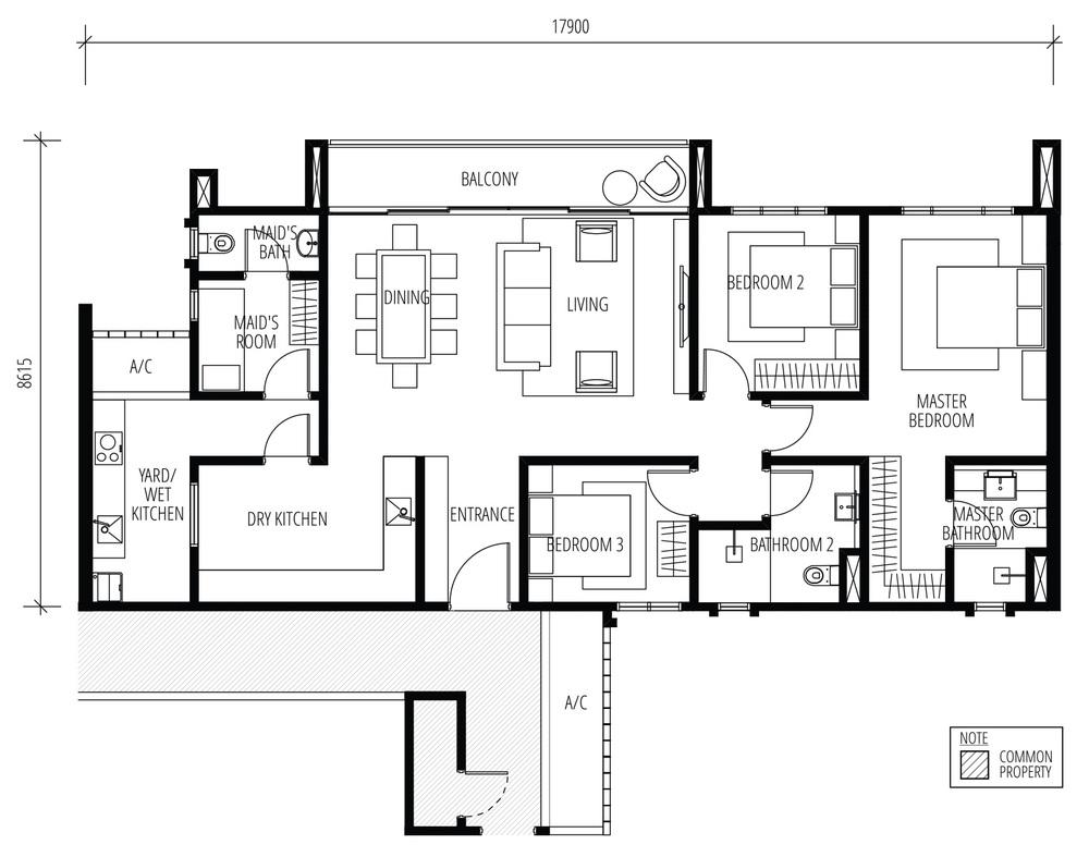 Tijani Raja Dewa Type C Floor Plan