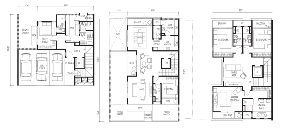Tijani Raja Dewa Semi D Standard Unit Floor Plan