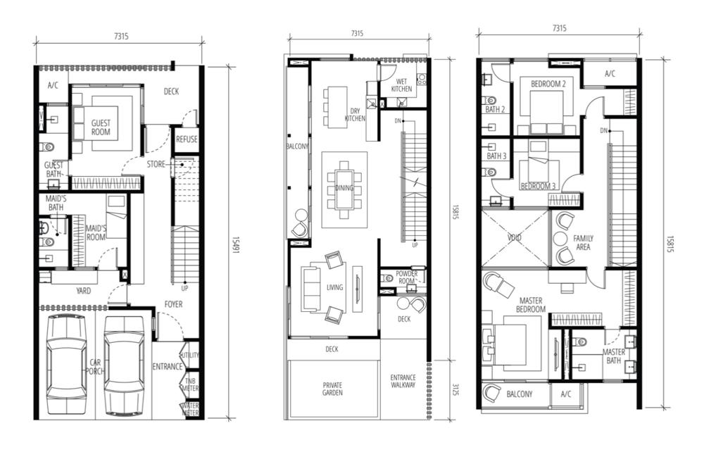 Tijani Raja Dewa Superlink Terrace Intermediate Unit Floor Plan