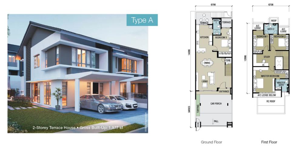Chloe Residence Type A Floor Plan