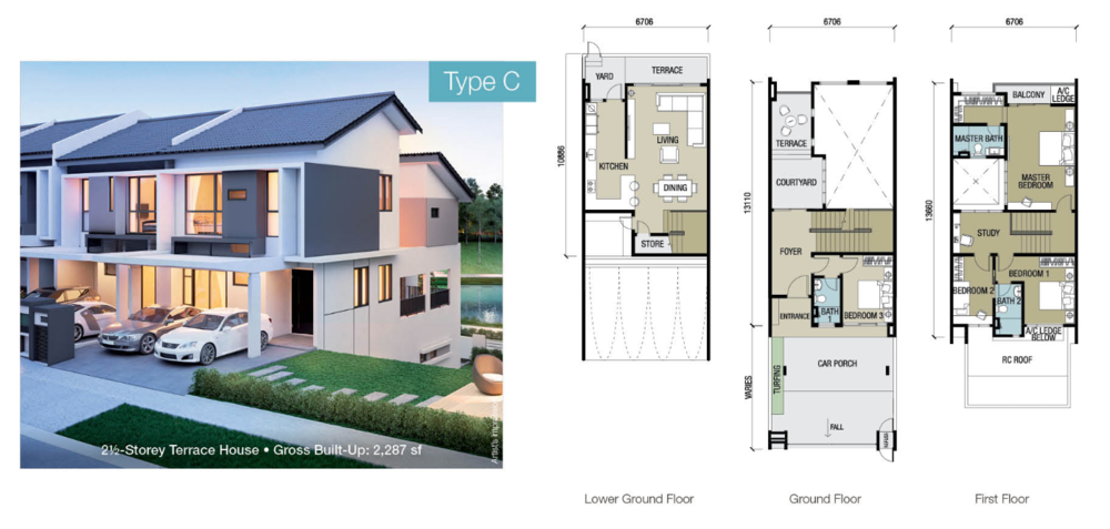 Chloe Residence Type C Floor Plan