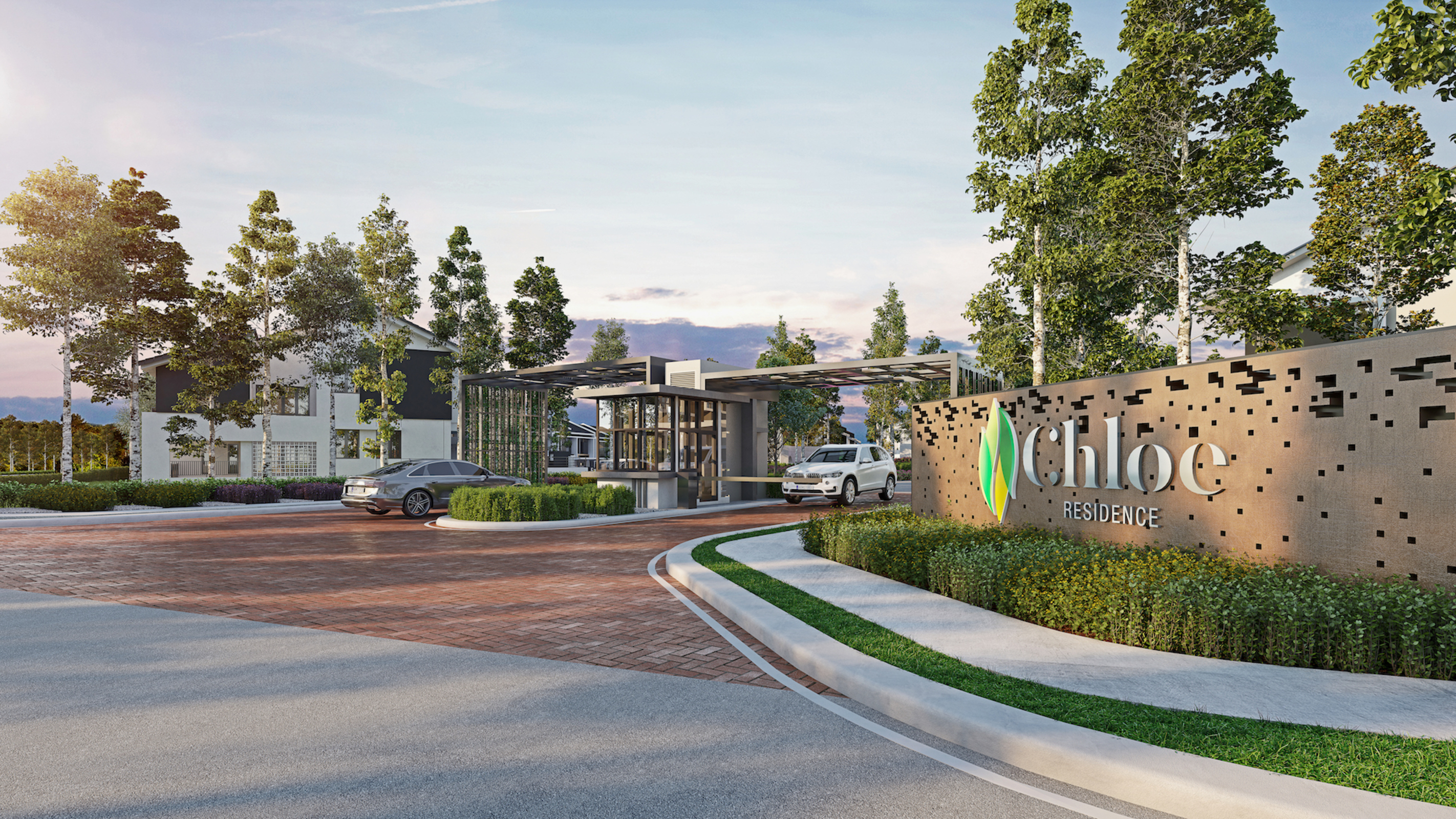 Rawang emerald west house for sale chloe residences chloe entrance guardhouse 3xl