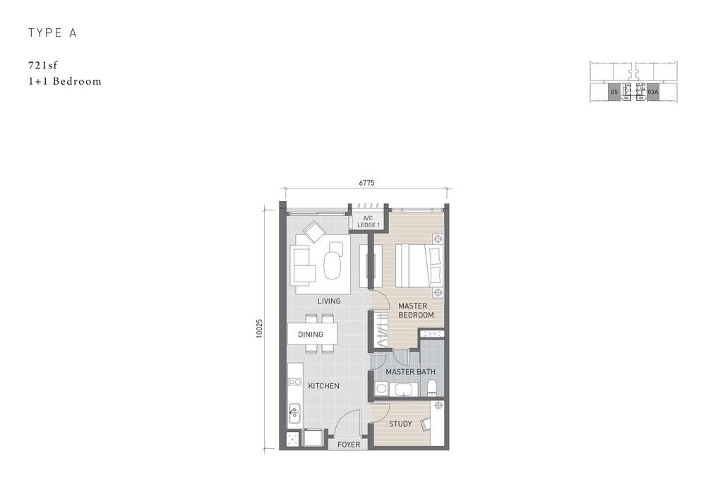 Solaris Parq Type A Floor Plan