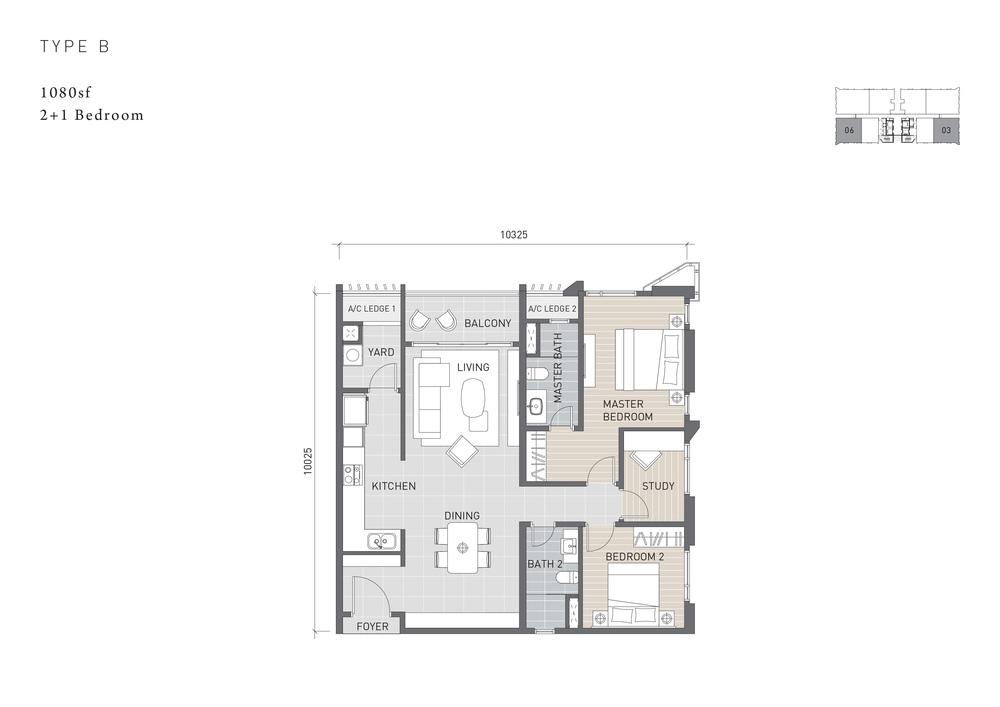 Solaris Parq Type B Floor Plan
