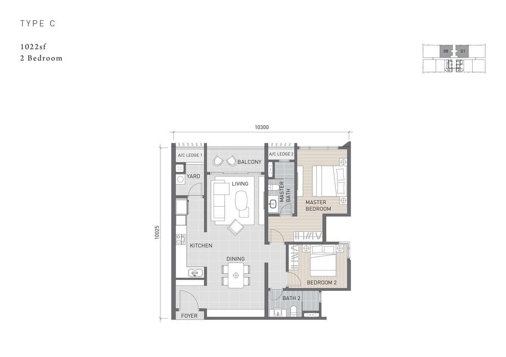 Solaris Parq Type C Floor Plan