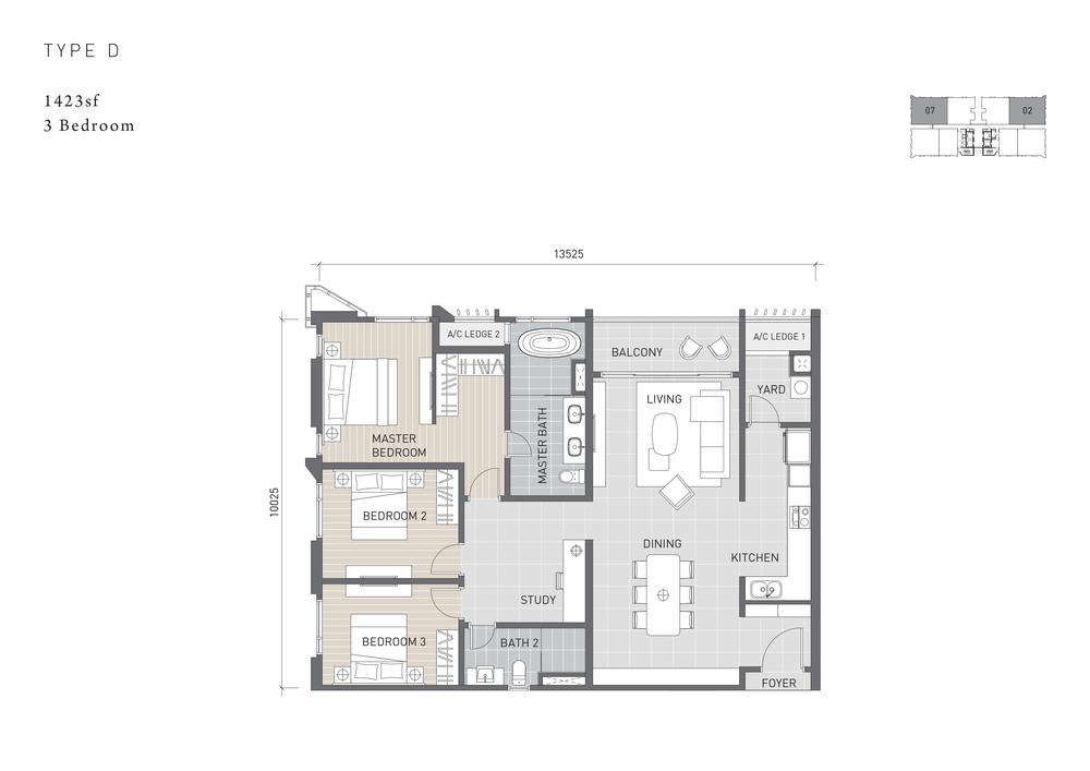 Solaris Parq Type D Floor Plan
