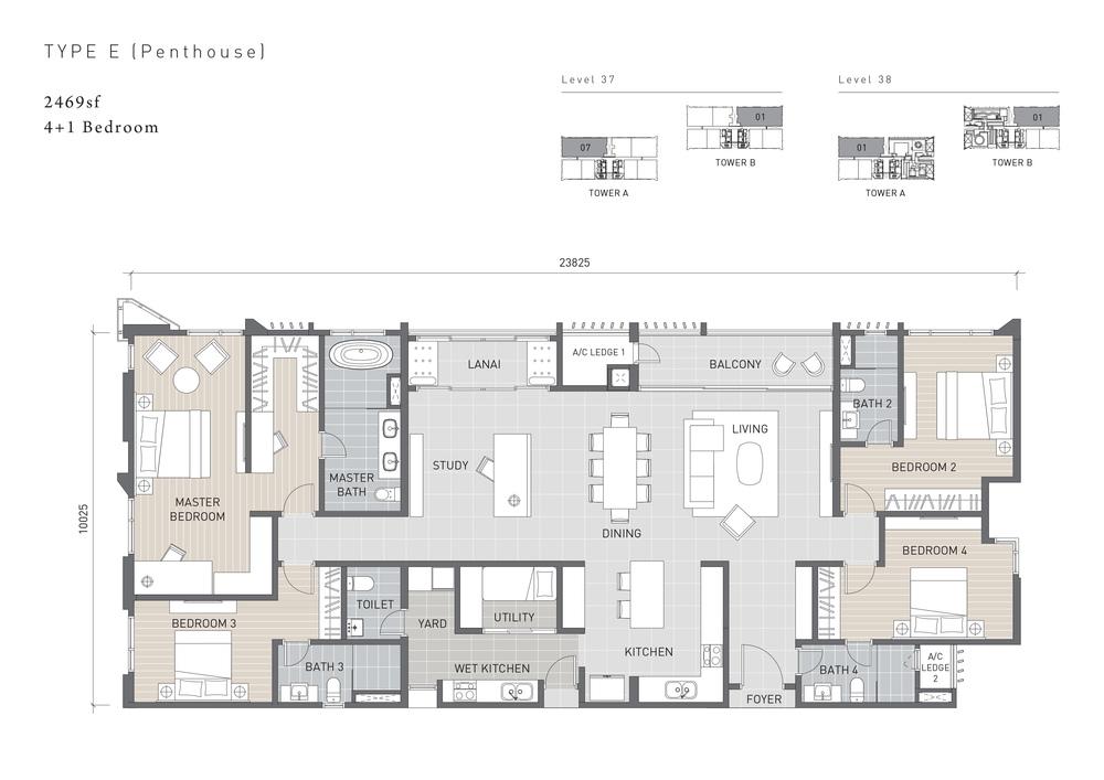 Solaris Parq Type E Floor Plan