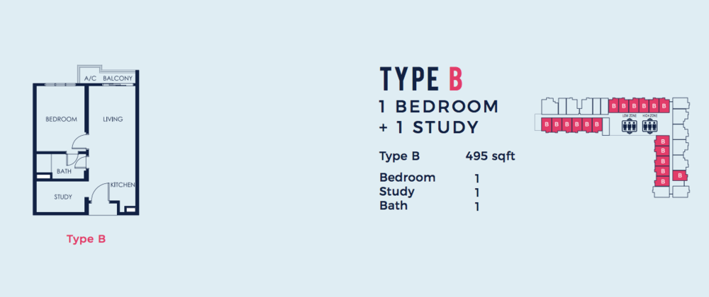 South Link Lifestyle Apartments Type B Floor Plan