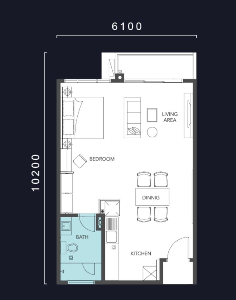 Molek Regency Type A1 Floor Plan
