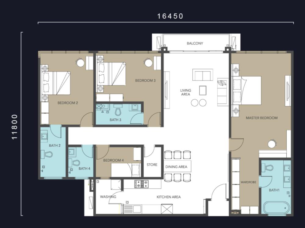 Molek Regency Type D Floor Plan
