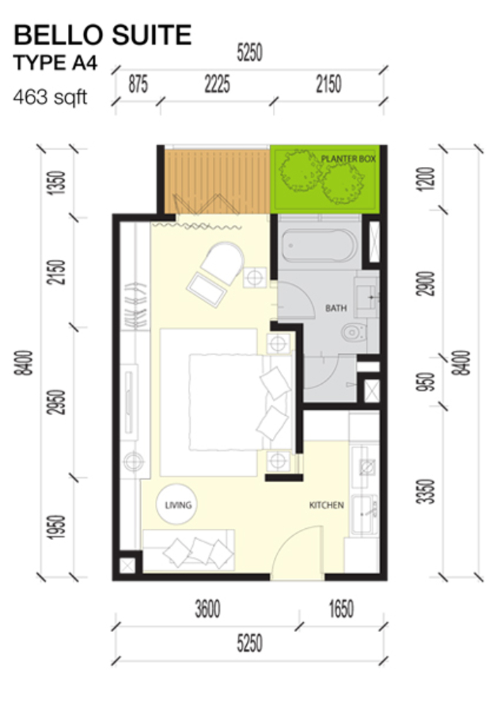 Imperio Residences Bello Suites A4 Floor Plan