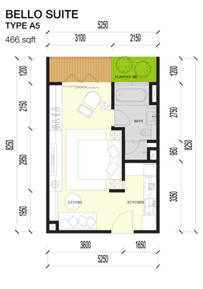 Imperio Residences Bello Suites A5 Floor Plan