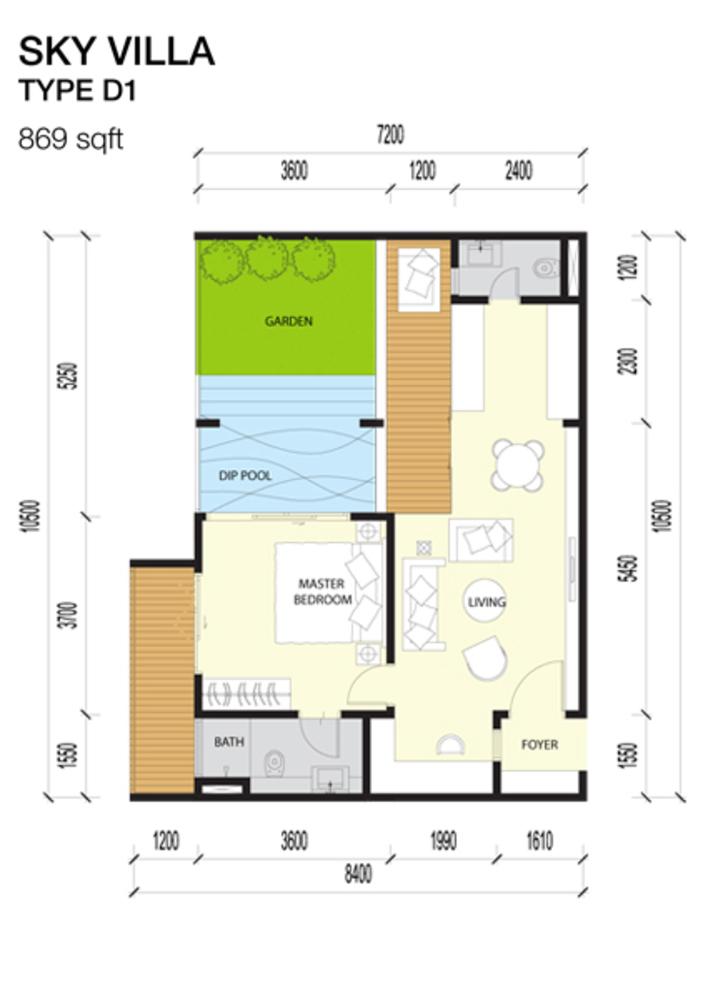 Imperio Residences Sky Villa D1 Floor Plan