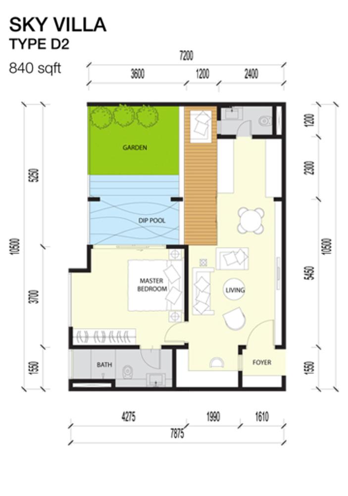 Imperio Residences Sky Villa D2 Floor Plan
