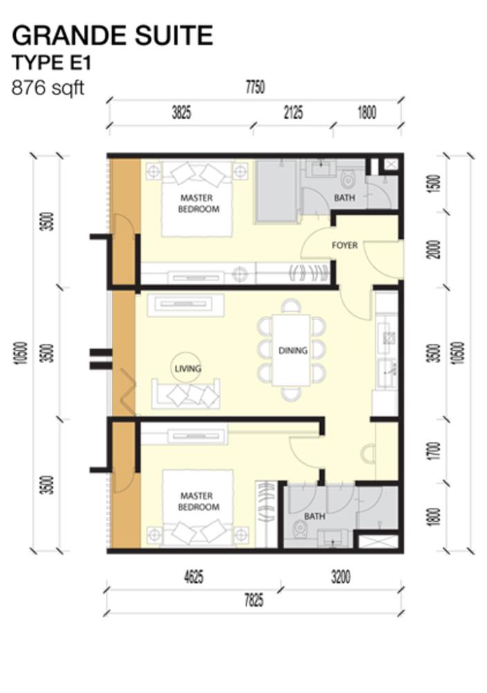 Imperio Residences Grande Suites E1 Floor Plan