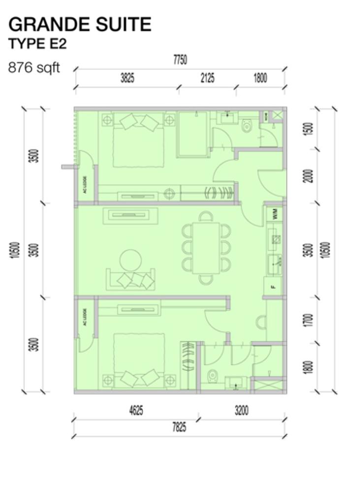 Imperio Residences Grande Suites E2 Floor Plan