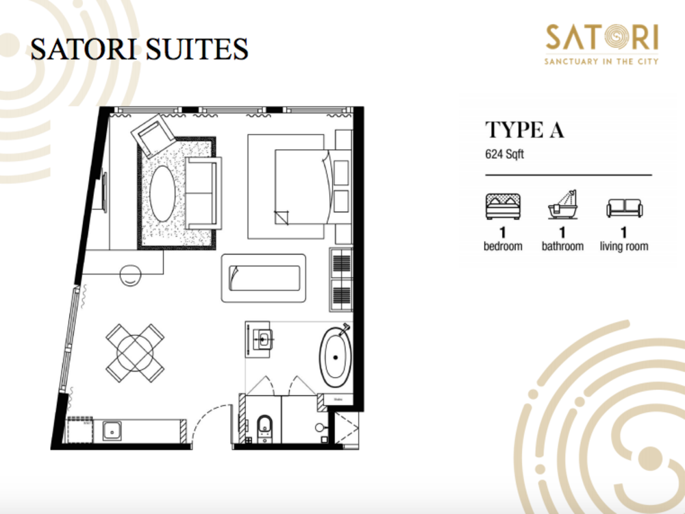 Satori Satori Suites Type A Floor Plan