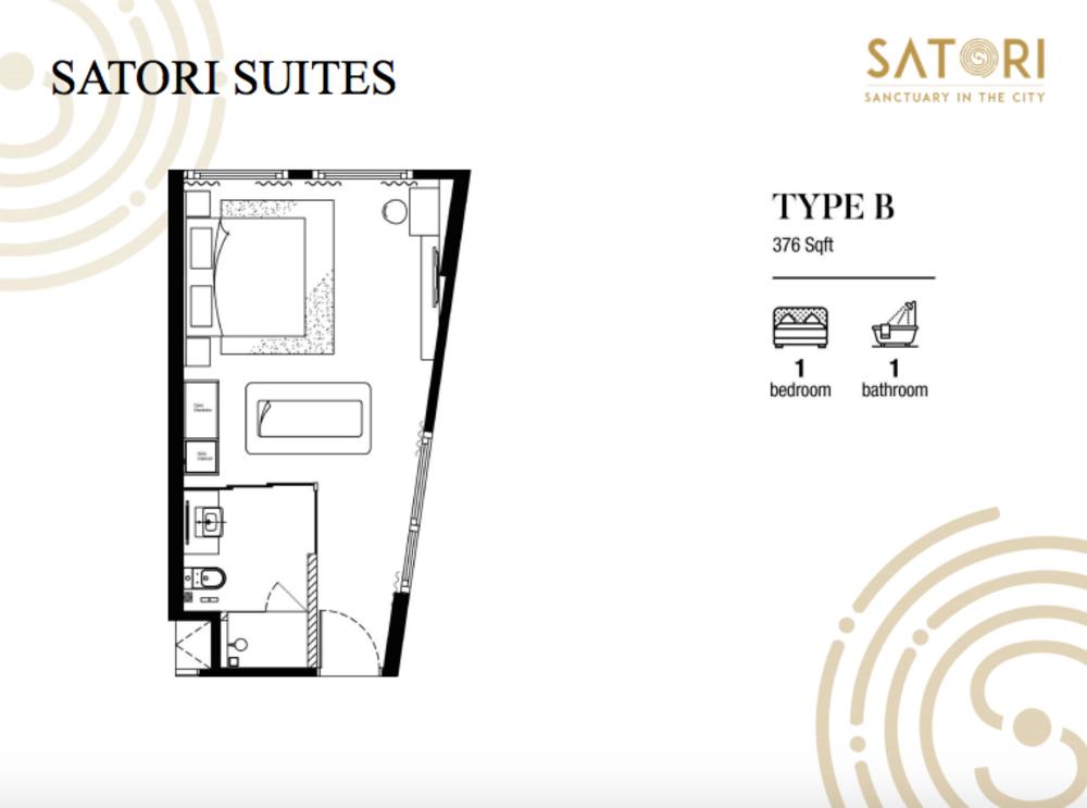 Satori Satori Suites Type B Floor Plan