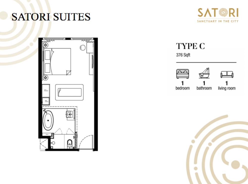 Satori Satori Suites Type C Floor Plan
