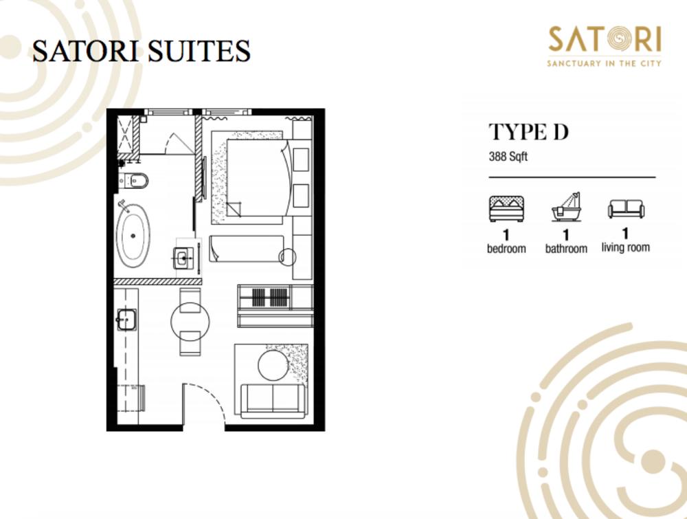 Satori Satori Suites Type D Floor Plan