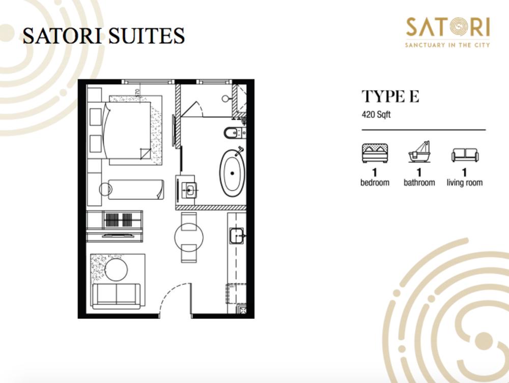 Satori Satori Suites Type E Floor Plan