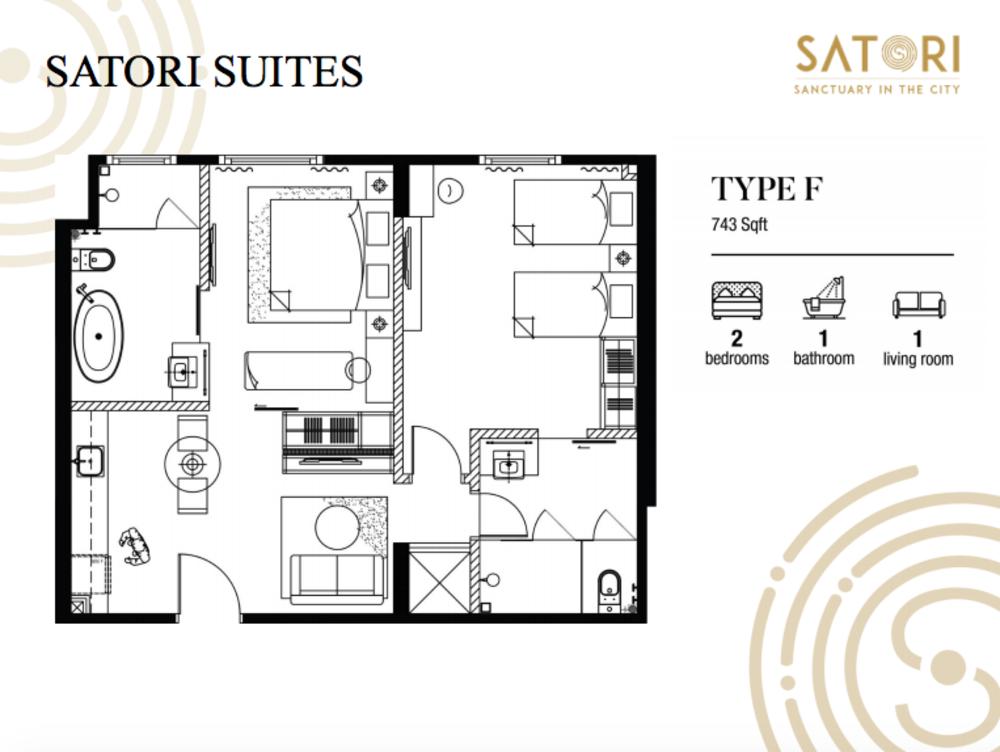 Satori Satori Suites Type F Floor Plan