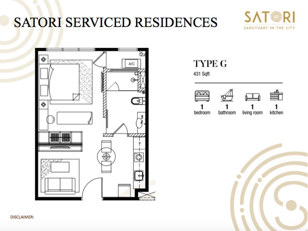 Satori Satori Serviced Residences Type G Floor Plan