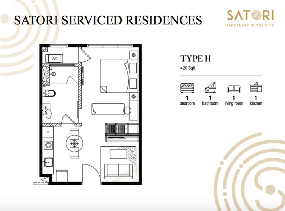 Satori Satori Serviced Residences Type H Floor Plan