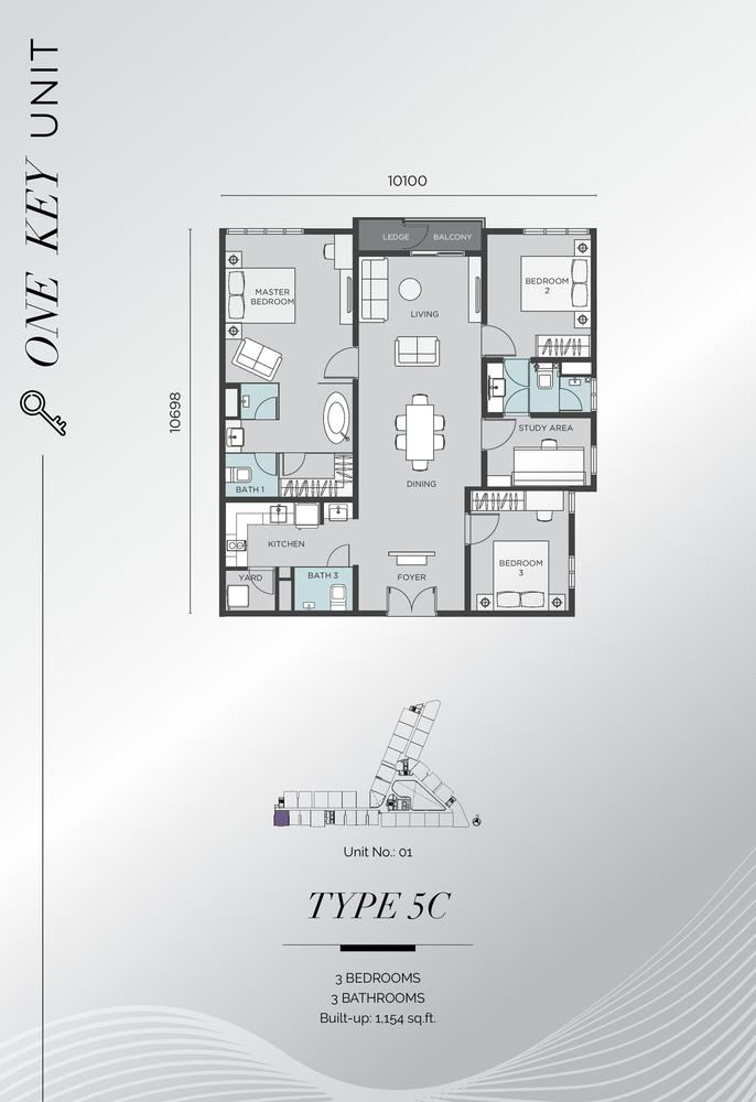 D'Immersione Type 5C Floor Plan