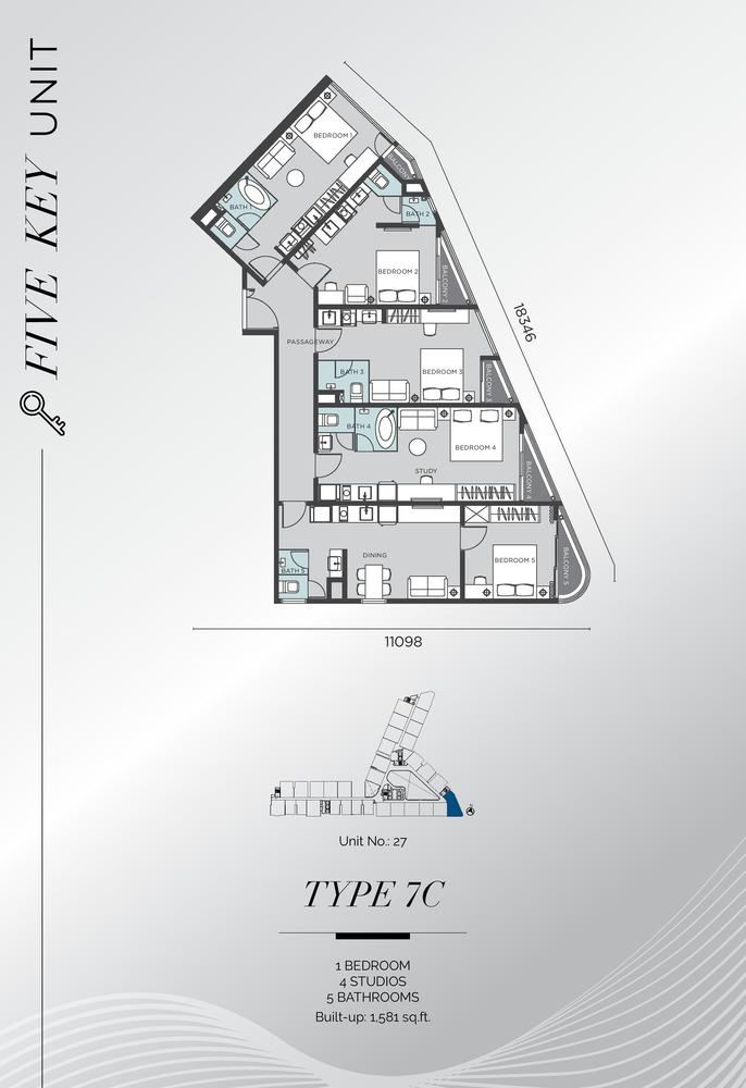 D'Immersione Type 7C (with 4 studios) Floor Plan