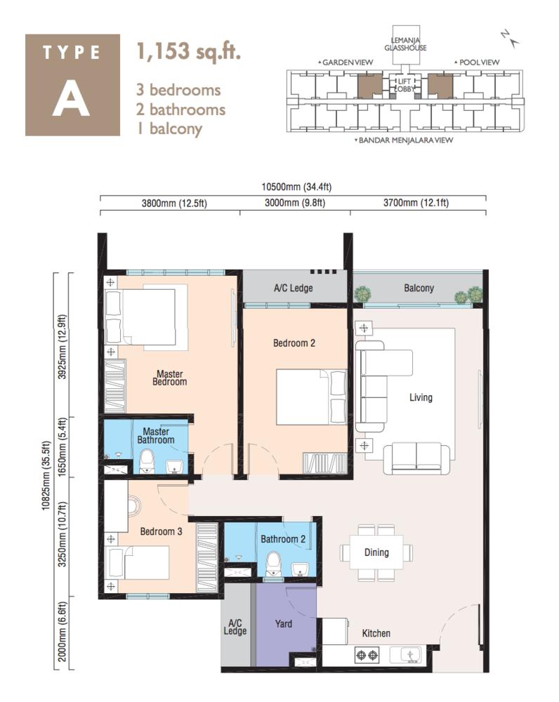 Lemanja Type A Floor Plan
